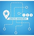 Logistic concept Set of icon and sympols for vector image vector image
