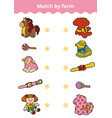 matching game education game for children connect vector image vector image