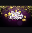 merry xmas background with golden decoration vector image vector image