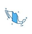 mexico map icon design vector image vector image