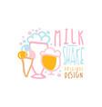 milk shake logo original design element for vector image