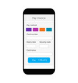 mobile pay interface online banking form