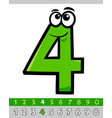 number four cartoon character vector image