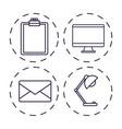 office elements design vector image vector image