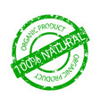 organic product rubber stamp vector image vector image