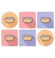 outlined icon of hot dog with parallel and not vector image vector image