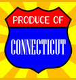 produce of connecticut shield vector image vector image