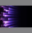 purple overlap stripe rush in dark background vector image vector image