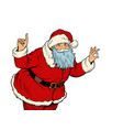 santa claus attention gesture new year and vector image vector image