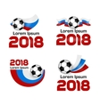 Set logo Football Championship 2018 Russia vector image
