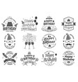set of happy birthday templates for overlay badge vector image