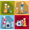 set of mother with daughter vector image vector image