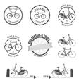 set rent a bike design elements vector image