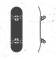 set skateboard icon vector image