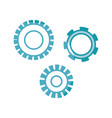 silhouette industry gears engineering process vector image vector image