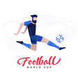 soccer player on stadium background vector image