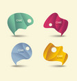 speech bubbles icons in retro shades vector image