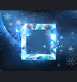 square ice banner vector image vector image