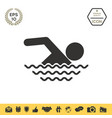 swim icon symbol vector image