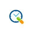 time medicine logo icon design vector image vector image