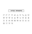 votes rewards line icon set vector image