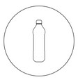 water plastic bottle icon black color in circle vector image vector image