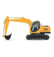 yellow excavator vector image