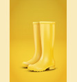 yellow rain boots vector image vector image