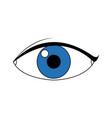 eye people cartoon watch optic icon vector image