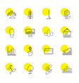 16 growth icons vector image vector image