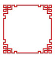 3d chinese border frame vector image vector image