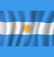 3d flag argentina national symbol vector image