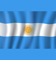 3d flag of argentina national symbol vector image