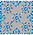 Abstract triangle snowflake pattern