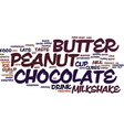 best recipes chocolate peanut butter milkshake vector image vector image
