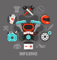 bike shop and service vector image