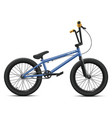 blue bmx bicycle - right side view vector image vector image