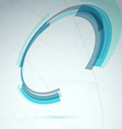 Blue spin round element abstract tech background vector image vector image