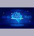 brain test vector image vector image
