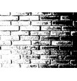 brick wall grunge background distress overlay vector image vector image