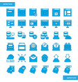 browser and interface blue icons set style vector image vector image