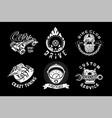 car service emblem retro style auto vector image
