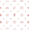 children icons pattern seamless white background vector image vector image
