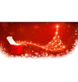 Christmas background with magic box vector image vector image