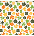 clover leaves seamless pattern colorful shamrock vector image vector image