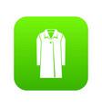 coat icon digital green vector image vector image