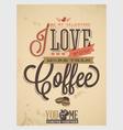 Coffee shop design vector image vector image