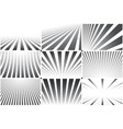 collection of abstract striped backgrounds black vector image