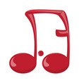 comic musical note vector image