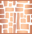 copper foil rectangle shapes seamless pattern vector image vector image